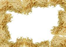 Tallarines inmediatos de los ramen asiáticos aislados en el backgrou blanco Imagen de archivo libre de regalías