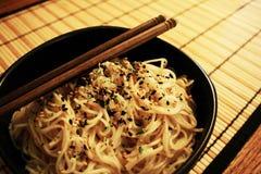 Tallarines japoneses Foto de archivo