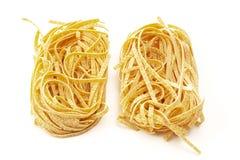 Tallarines, pastas italianas Imagen de archivo libre de regalías