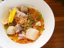 Tallarines picantes tailandeses fotografía de archivo