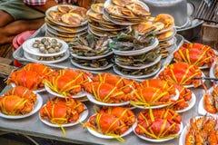 Tallarines picantes tailandeses de los mariscos Imagen de archivo libre de regalías