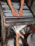Tallarines que hacen Camboya Fotografía de archivo libre de regalías