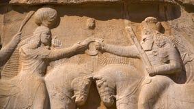 Tallas de la necrópolis de los reyes persas almacen de video