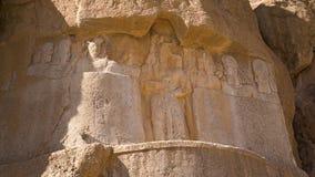 Tallas de la necrópolis de los reyes persas almacen de metraje de vídeo