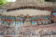 Tallas de la roca de Dazu imágenes de archivo libres de regalías
