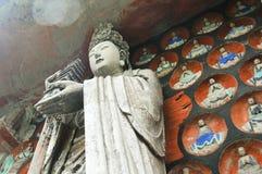 Tallas de la roca de Dazu imagenes de archivo