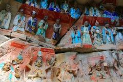 Tallas de la roca de Dazu, Chongqing, China imágenes de archivo libres de regalías