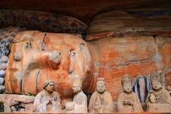 Tallas de la roca de Dazu, Chongqing, China fotografía de archivo libre de regalías