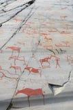 Tallas de la roca en Alta Finnmark imágenes de archivo libres de regalías