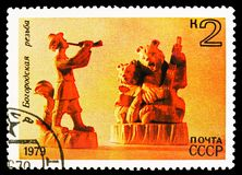 Tallas de madera (Bogorodsk), serie popular de los artes, circa 1979 fotografía de archivo libre de regalías