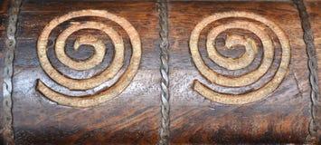 Tallas de madera del remolino foto de archivo libre de regalías