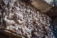 Tallas de piedra, cuba Phou, Laos Fotografía de archivo libre de regalías