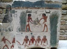 Tallas de piedra egipcias antiguas Foto de archivo
