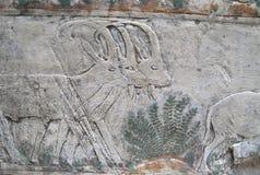 Tallas de piedra egipcias antiguas Fotos de archivo