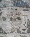 Tallas de piedra egipcias antiguas Imagen de archivo libre de regalías