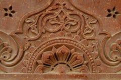 Tallas de piedra en la pared del templo, la India Fotos de archivo libres de regalías