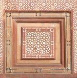 Tallas de piedra en la pared en Fatehpur Sikri Foto de archivo libre de regalías