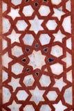 Tallas de piedra en la pared en Fatehpur Sikri Foto de archivo