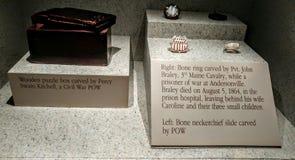 Tallas del hueso de la prisión de Andersonville Imagen de archivo libre de regalías