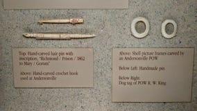 Tallas del hueso de la prisión de Andersonville Foto de archivo