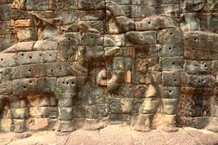 Tallas del sitio de Angkor, Camboya fotografía de archivo libre de regalías