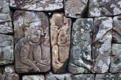 Tallas del templo de Bayon foto de archivo libre de regalías