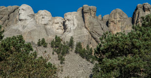 Tallas en el monte Rushmore foto de archivo