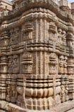 Tallas exquisitas en la esquina del templo de Sun Fotografía de archivo libre de regalías
