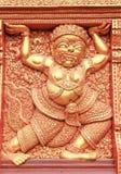 Tallas gigantes, talla de plata en la pared, Wat Srisu del estilo tailandés Fotografía de archivo libre de regalías
