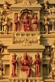 Tallas indias de la piedra del templo Fotografía de archivo