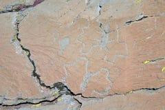 Tallas prehistóricas de la roca, valle de Merveilles, Francia foto de archivo