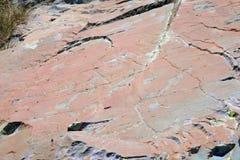 Tallas prehistóricas de la roca, valle de Merveilles, Francia imágenes de archivo libres de regalías