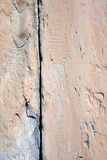 Tallas prehistóricas de la roca, valle de Merveilles, Francia fotografía de archivo libre de regalías