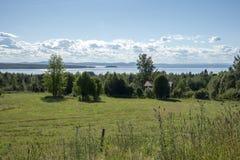 Tallberg en el lago Siljan en Suecia foto de archivo libre de regalías