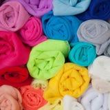 Taller casero con los accesorios para la costura Bolas para el knittin Imagen de archivo libre de regalías