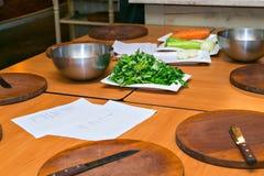 Taller culinario El cocinar del concepto Fotografía de archivo