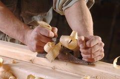 Taller de la carpintería con madera Fotografía de archivo