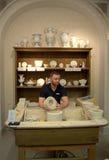 Taller de la demostración de la porcelana de Meissen Foto de archivo