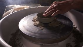 Taller de la habilidad del arte decorativo de la arcilla de pote almacen de video