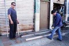 Taller de la Puerta-Soldadura Fotografía de archivo