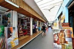 Taller de pintura junto al mercado central, Kuala Lumpur Imagen de archivo
