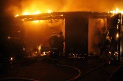 Taller de reparaciones auto del fuego Foto de archivo