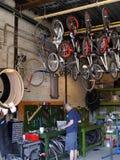Taller de reparaciones de la bicicleta Imagen de archivo