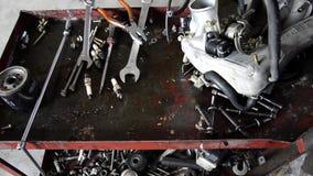 Taller de reparaciones del automóvil almacen de video