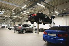 Taller de reparaciones del coche Fotografía de archivo libre de regalías