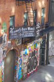 Taller de reparaciones del coche de Nueva York Imagen de archivo libre de regalías