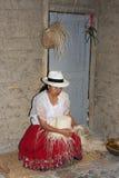 Taller del sombrero de Panamá Fotografía de archivo libre de regalías