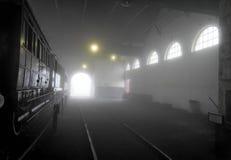Taller en la niebla Imágenes de archivo libres de regalías