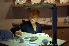 Taller Meissen, Alemania de la demostración Fotos de archivo libres de regalías