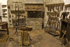 Taller viejo del herrero Foto de archivo libre de regalías